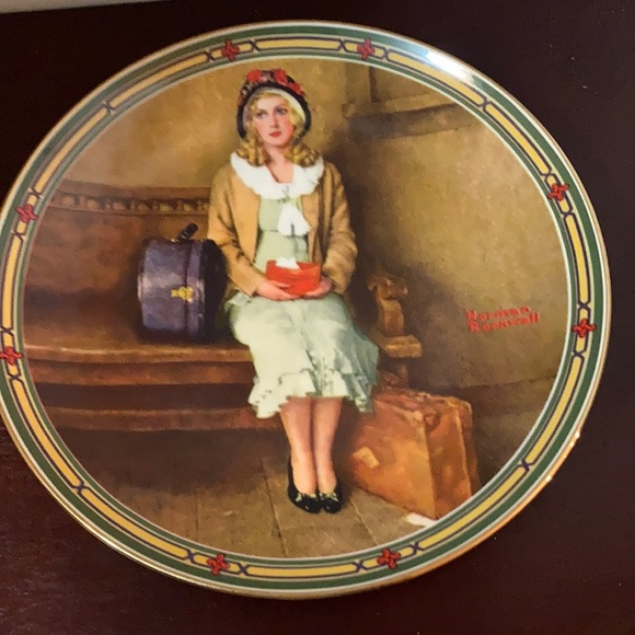 Norman Rockwell: A Young Girl Dream coll. plate